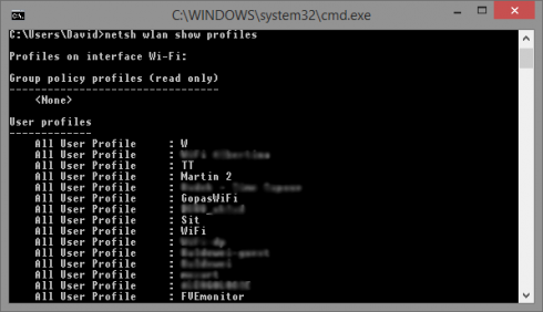 Uložené profily Wi-Fi