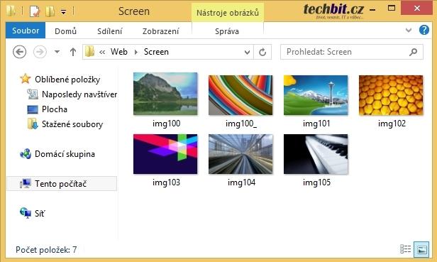 Obrázky Windows 8.1
