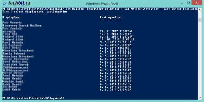 PowerShell a LastLogonTime