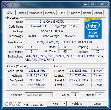 Lenovo E31-70 - CPU-Z