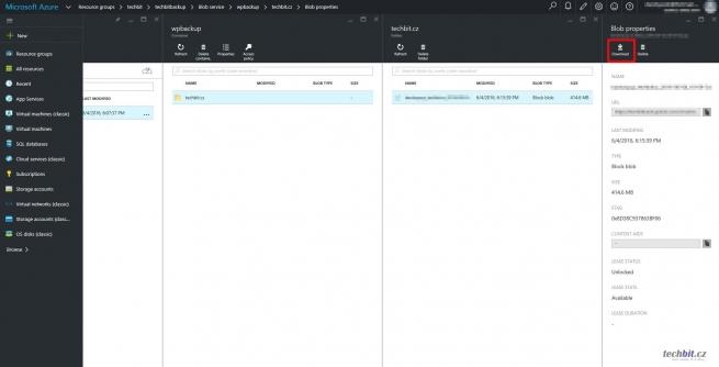 Wordpress zálohy do Azure Storage