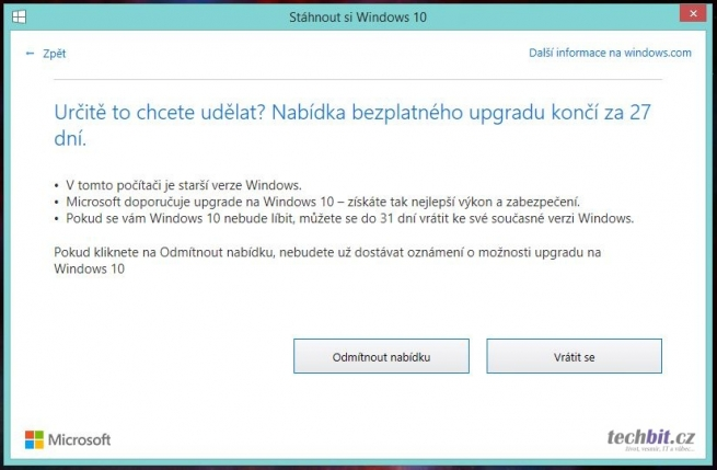 Windows 10 notifikace