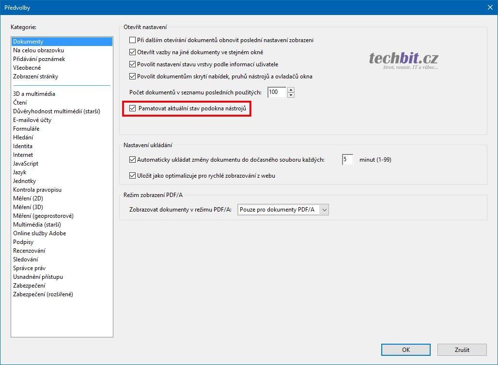 Adobe Acrobat Reader DC - Sidebar
