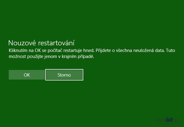 Nouzový restart Windows