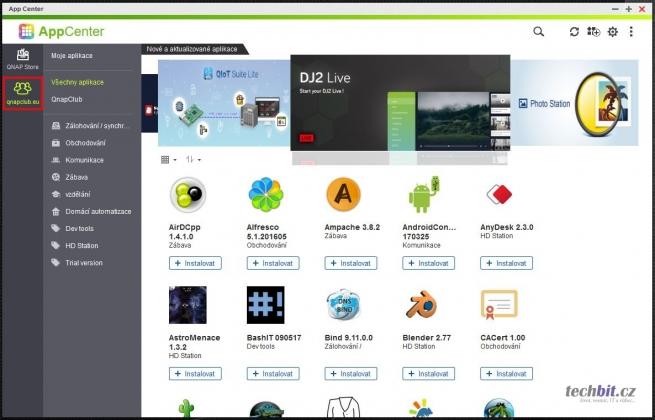 QTS - App Center